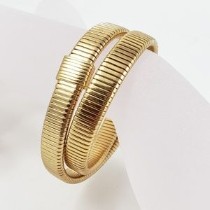 J. Crew Double Stretch Bracelet Gold Tone Stretch